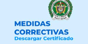 Nacional de medidas Correccionales certificado