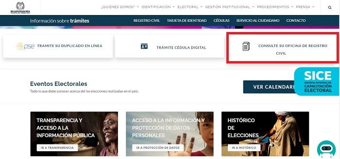 consultar el registro civil