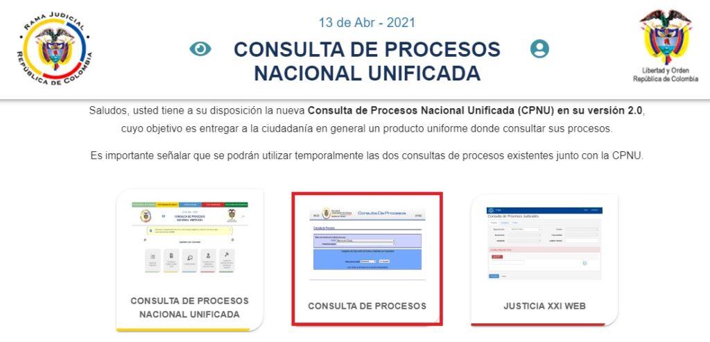 Consulta de procesos CPNU