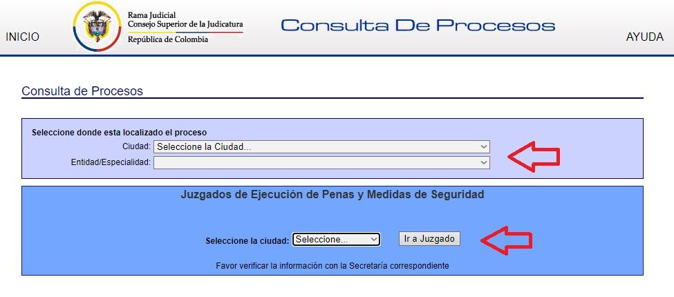 Consulta de procesos por localización